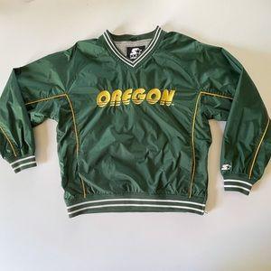 90s Starter Oregon Ducks University Pullover S